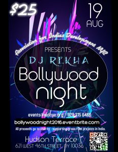 Flier-Bollywood Night 2016